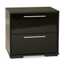 Mikka 2 Drawer Nightstand by South Shore
