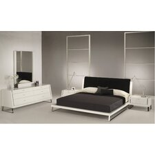 Bahamas Platform Customizable Bedroom Set by Whiteline Imports