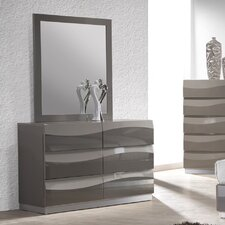 Delhi 6 Drawer Dresser with Mirror by Chintaly Imports