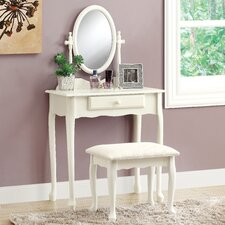 Churchman 2 Piece Traditional Vanity Set with Mirror by Rosalind Wheeler