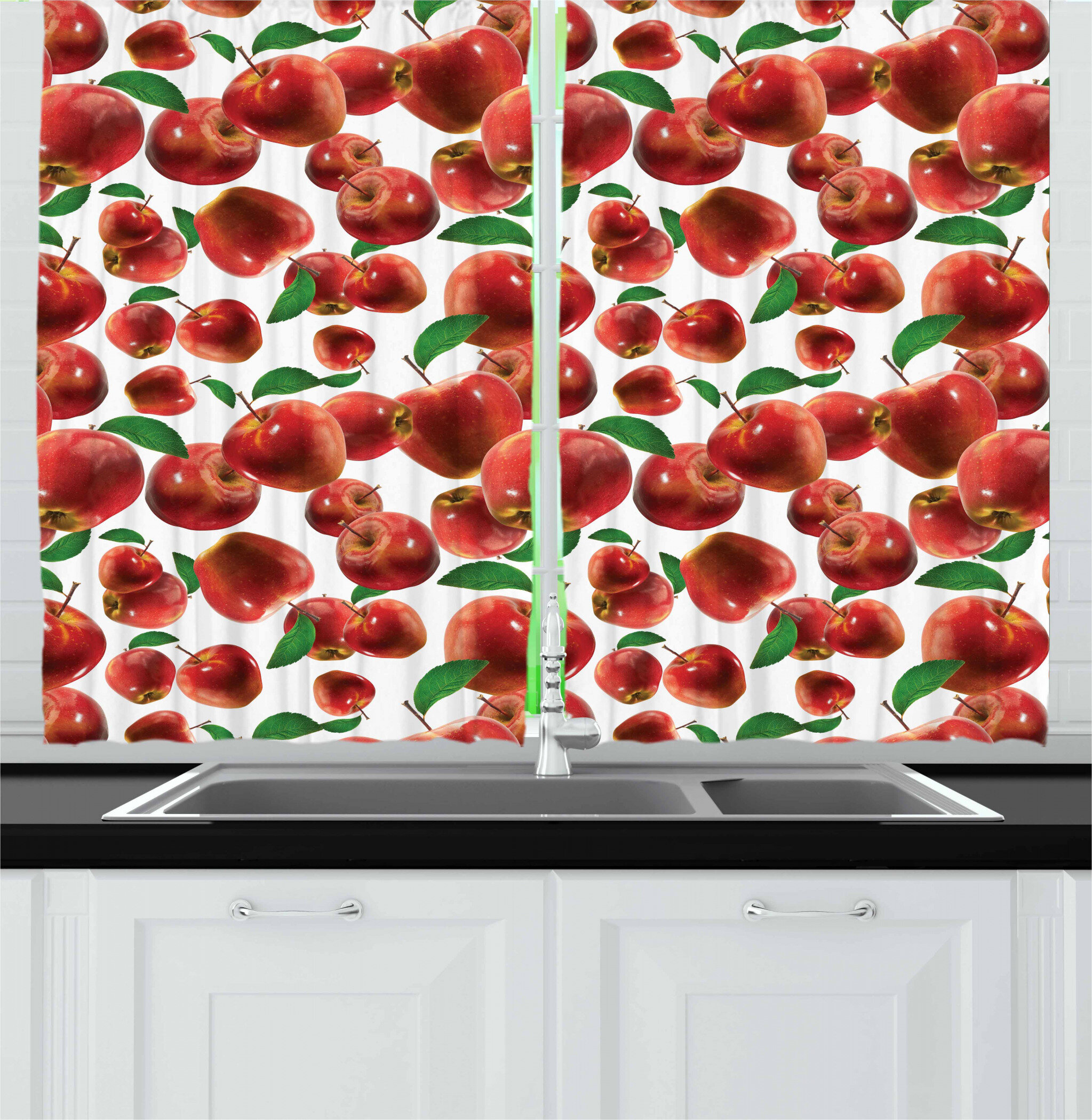 East Urban Home Apple Kitchen Curtain Wayfair