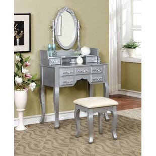 House of Hampton Ailbe Vanity Set with Mirror