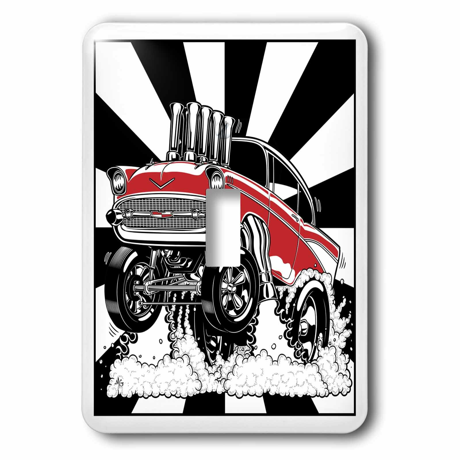 3drose A Killer 57 Hot Rod Drag Racing For S With A Fuel Injected Motor 1 Gang Toggle Light Switch Wall Plate Wayfair