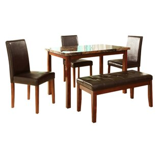 Lampson 5 Piece Dining Set Winston Porter