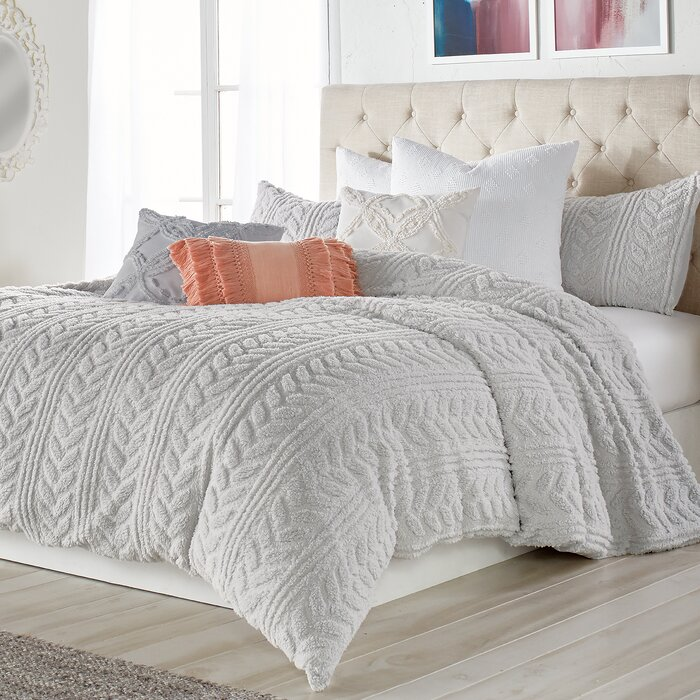 . Madilynn Cable Knit Sherpa Comforter Set