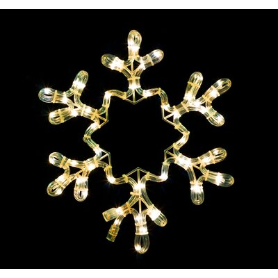 Queens of Christmas Rope Lit Snowflake Lighted Display Colour: Warm White