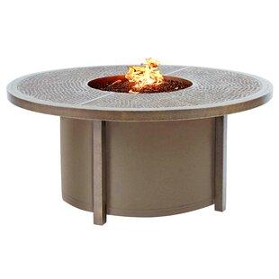 Hiatt Round Aluminum Fire Pit Table By Mercer41