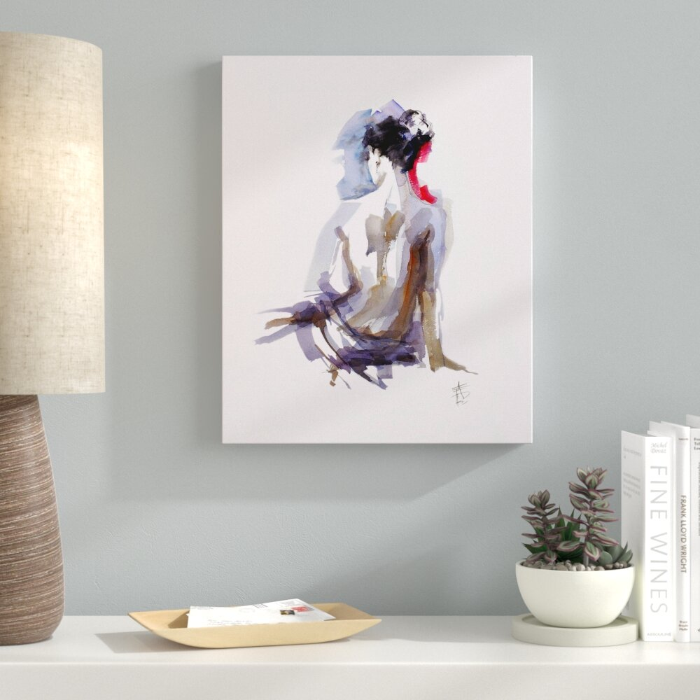 Ebern Designs Contemplation Watercolor Painting Print On Wrapped Canvas Wayfair