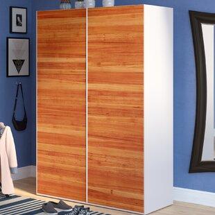 Brayden Studio Zastrow Modern Armoire with Sliding Doors