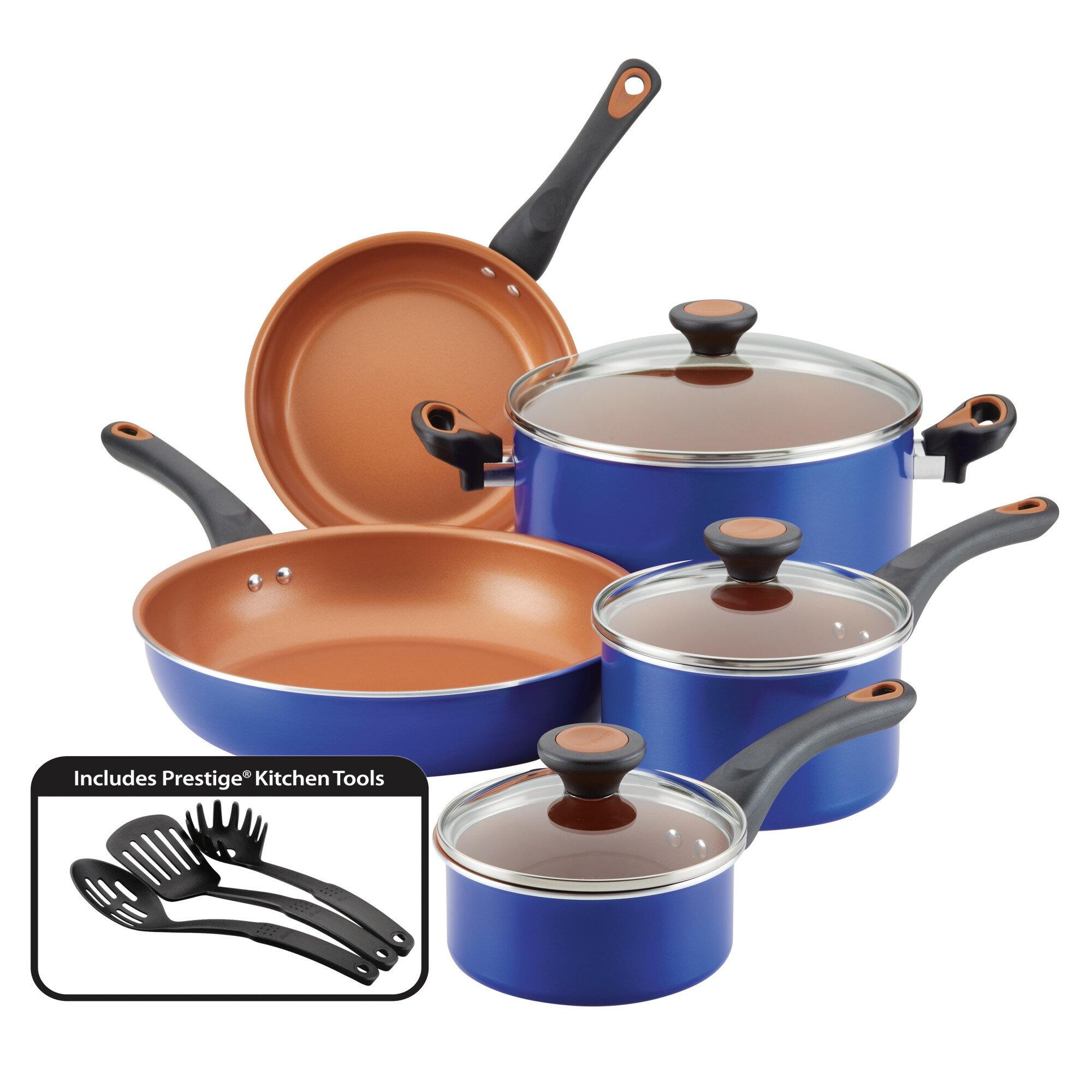 """Faberware Nonstick Frying Pan Set 3 Pcs 8/""""//10/""""//11/"""" Skillet Pan Set Red New"""