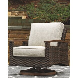 Geri Swivel Patio Chair with Cushions (Set of 2)