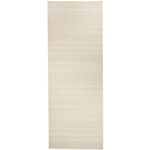 Solid Textured Cream Indoor/Outdoor Area Rug