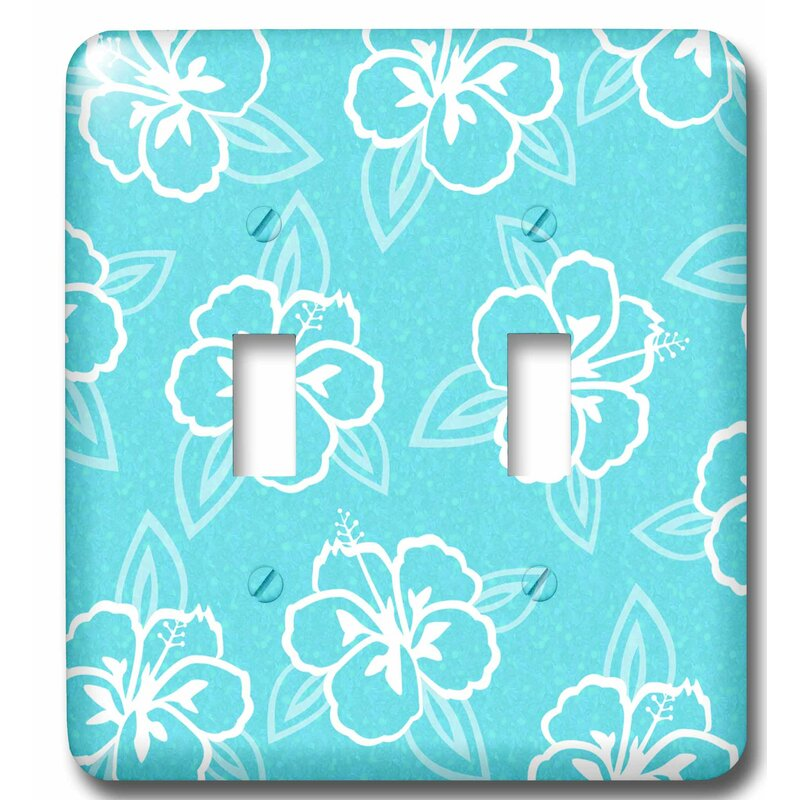 3drose Hawaiian Hibiscus Flower Print 2 Gang Toggle Light Switch Wall Plate Wayfair