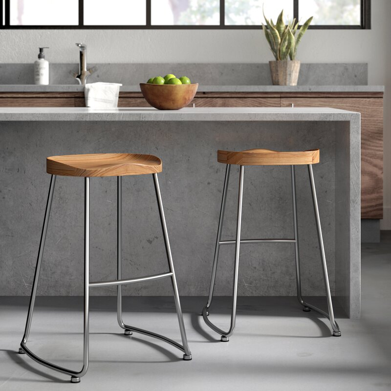 Miraculous Brookshire Solid Wood Metal Counter Stool Set Beatyapartments Chair Design Images Beatyapartmentscom