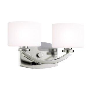Reviews Aguiar 2-Light Vanity Light By House of Hampton