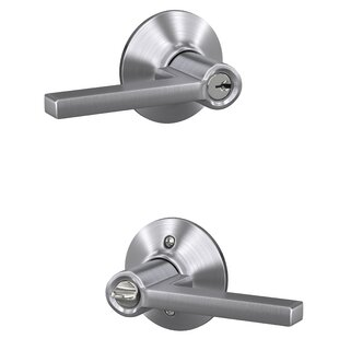 Latitude Keyed Entry Lever with Plymouth Trim by Schlage