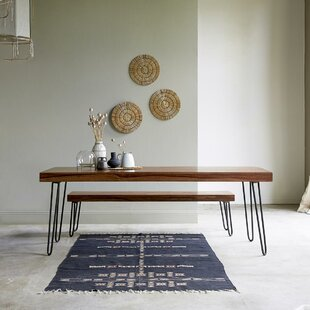Helga Dining Set With One Bench By Tikamoon