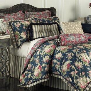 Waverly Sanctuary Rose 4 Piece Reversible Bedding Set
