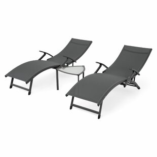 Quito Reclining Sun Lounger With Table By Sol 72 Outdoor