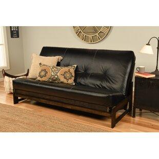 Black Leather Futon Wayfair