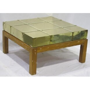 Bujold Brass Cocktail Table Vintage with Tray Top