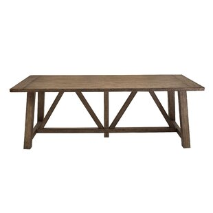 Gracie Oaks Woodworth Trestle Dining Table