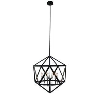 Radionic Hi Tech Archello 6-Light Geometric Chandelier