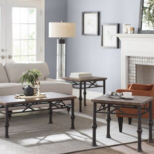 Laurel Foundry Modern Farmhouse Charles 3 Piece Coffee Table Set