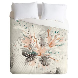 East Urban Home Tropical Silver Duvet Cover Set