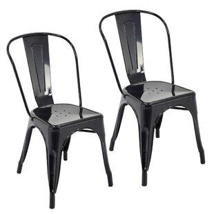 Feeney Stackable Indoor and Outdoor Rust-Resistant Metal Dining Chair (Set of 4)