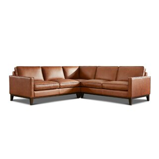 Whitson Leather Symmetrical Sectional by Foundry Select SKU:BE511506 Shop