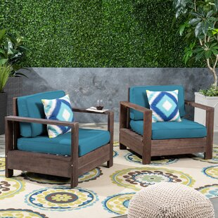 Landis Patio Chair with Cushions (Set of 2)