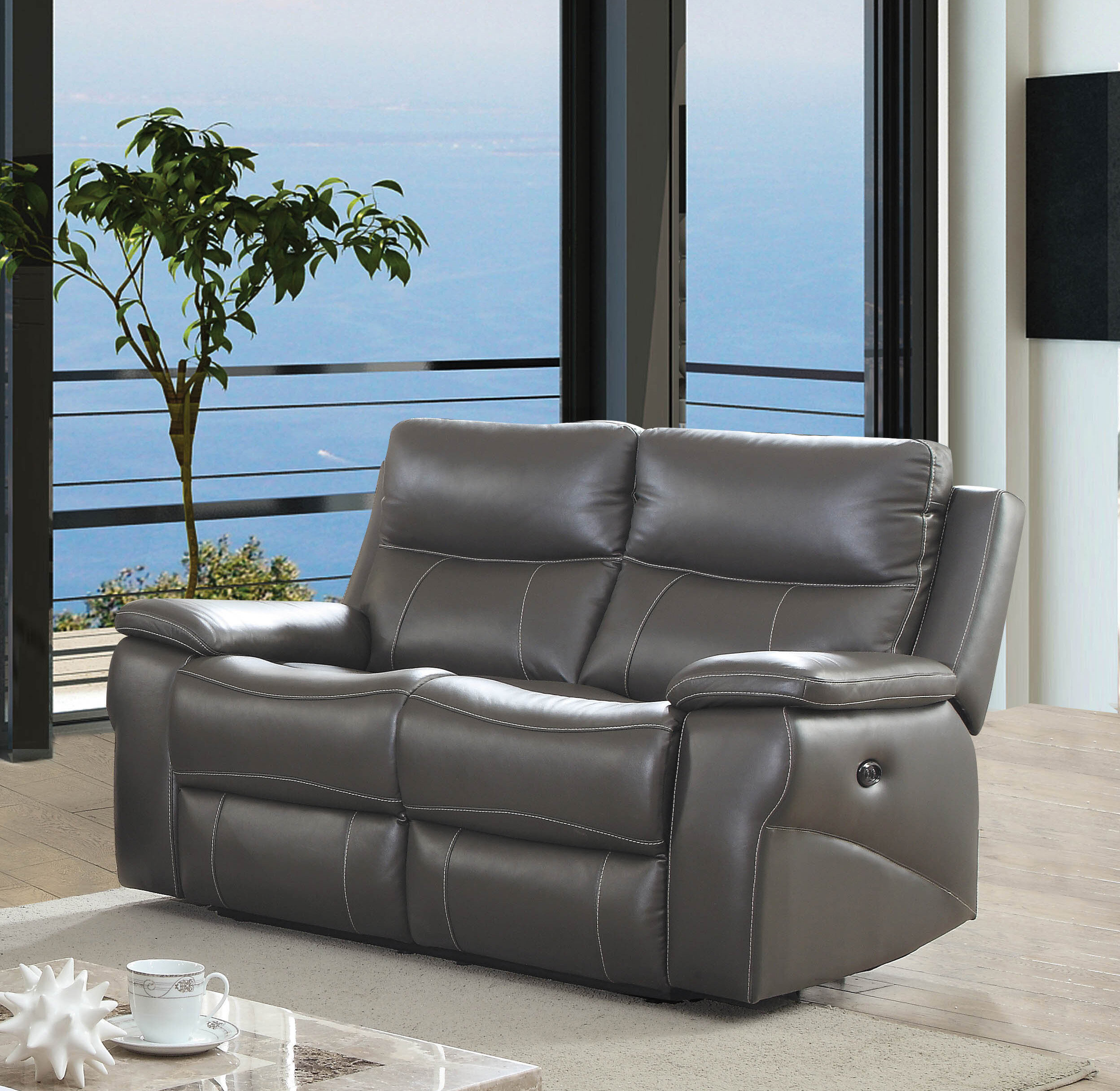 Wondrous Faulks Leather Reclining Loveseat Squirreltailoven Fun Painted Chair Ideas Images Squirreltailovenorg