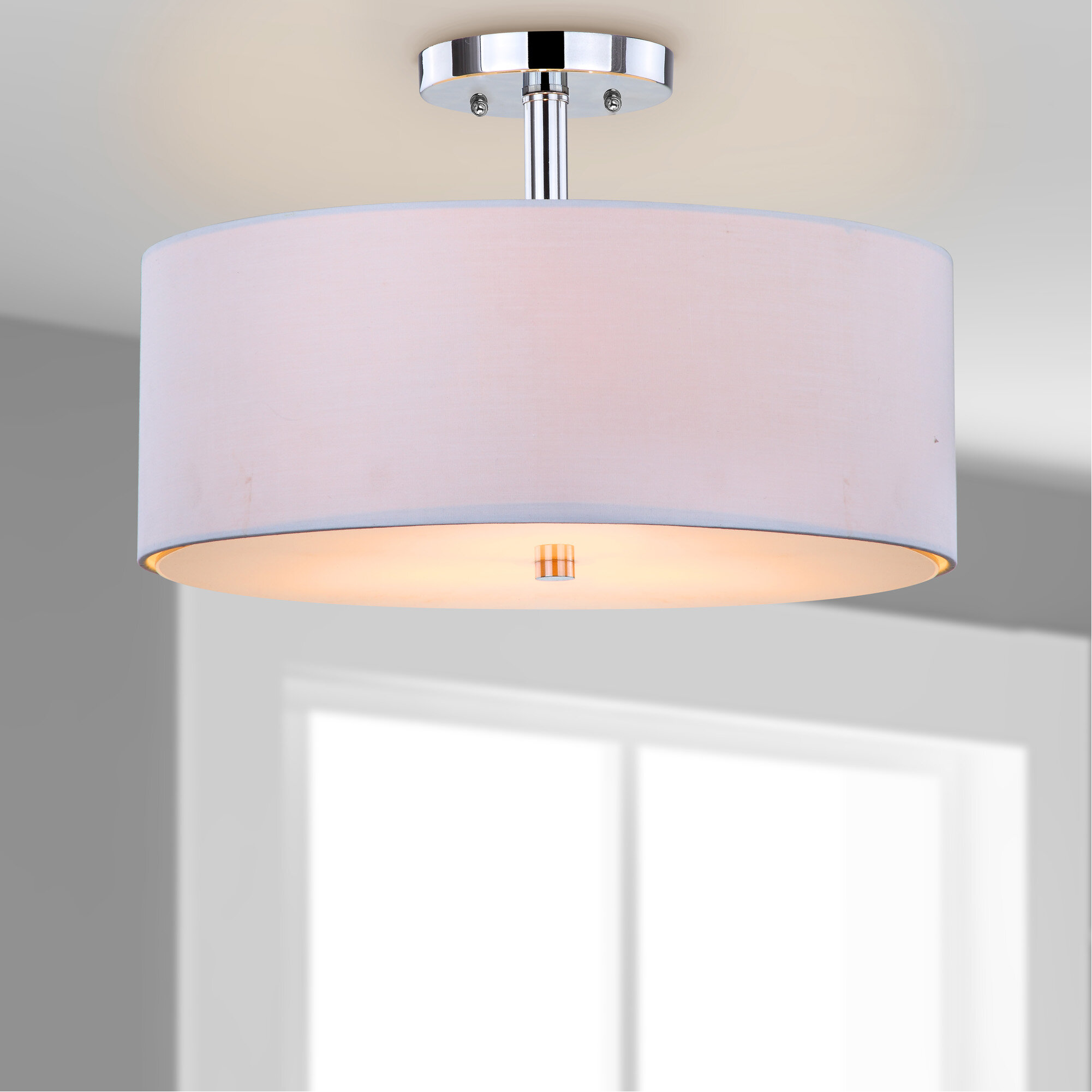Safavieh Clara 3-Light Semi Flush Mount & Reviews | Wayfair