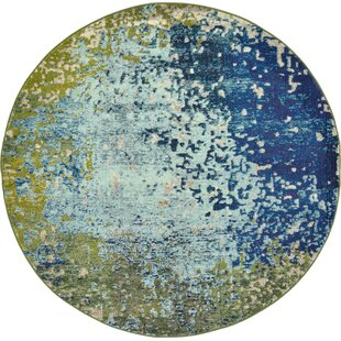 Hayes Blue Area Rug by World Menagerie
