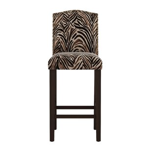 Genevie Arched Washed Zebra 31 Bar Stool