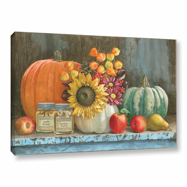 Harvest Bench Painting Print on Wrapped Canvas