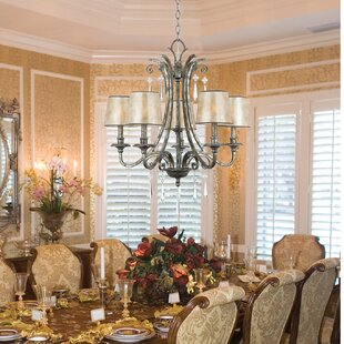 Fleur De Lis Living Sheila 5-Light Shaded Chandelier
