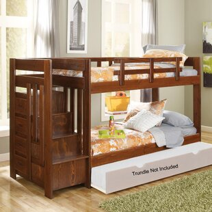 Twin over Twin Bunk Bed with Reversible Stairs