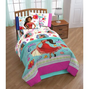 Disney Elena of Avalor Dancing Script 4 Piece Microfiber Sheet Set