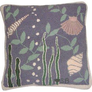Octopus Garden Hand Hooked Wool Accent Pillow