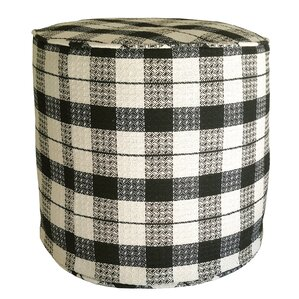 Littlefield Plaid Pouf Ottoman by R&MIndustries