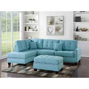 Latitude Run Whitner Sectional with Ottoman