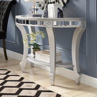 Jocelyn Mirrored Demilune Console Table Willa Arlo Interiors