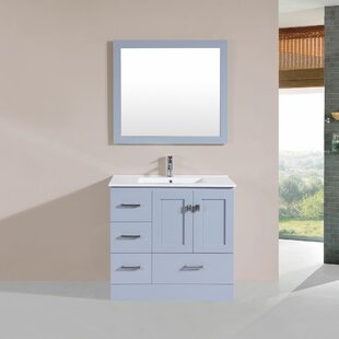 Affordable Price Landrum 36 Single Modern Bathroom Left Side Cabinet Vanity Set By Latitude Run