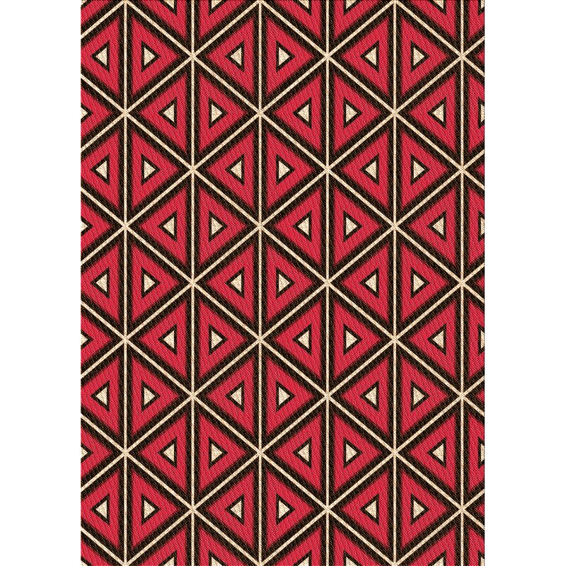 East Urban Home Maghull Geometric Red Area Rug Wayfair