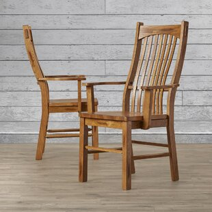 Corwin Solid Wood Dining Chair (Set of 2) Loon Peak