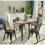 Germain 5 Piece Solid Wood Dining Set by Williston Forge