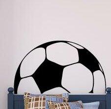 Zoomie Kids Conn Soccer Ball Headboard Vinyl Wall Decal