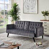 Palmer Velvet 72 W Square Arm Sofa by Wrought Studio